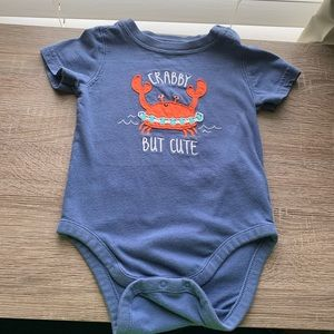 Baby Gap Crabby Onesie